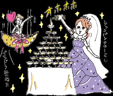 プチ贅沢派のBさんご夫妻の結婚はゴージャス挙式で予想以上の出費に…